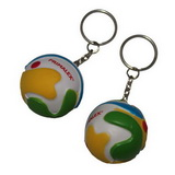 Color ball keychain