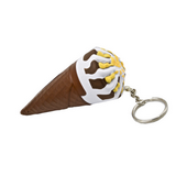 Ice Cream Cone Keychain